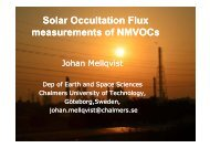 Solar Occultation Flux measurements of NMVOCs