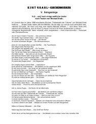 und noch einige weltliche Lieder nach Texten von ... - Kurt - Grahl