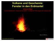 Vulkane und Geochemie: Fenster in den Erdmantel