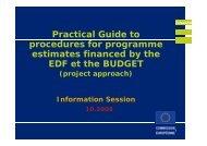 EuropeAid procedures - Francesco Billeci - Efca