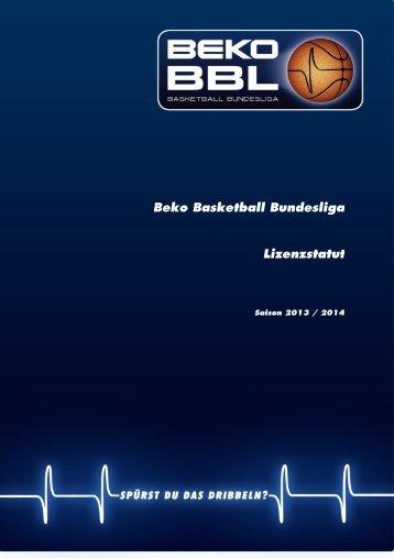 Lizenzstatut 13/14 - Beko Basketball Bundesliga