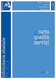 biblioteca statale - Direzione Generale per i Beni Librari e gli Istituti ...