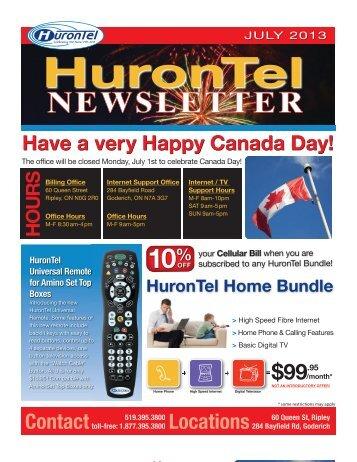 HuronTel Newsletter - July 2013