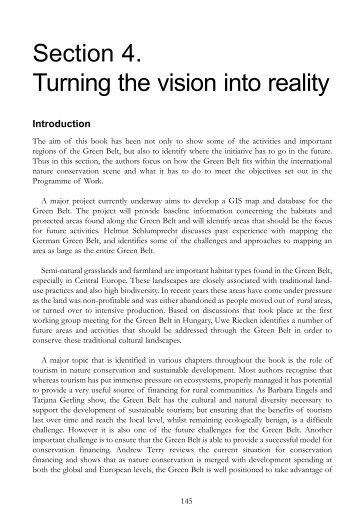 Section 4. Turning the vision into reality - baltic green belt