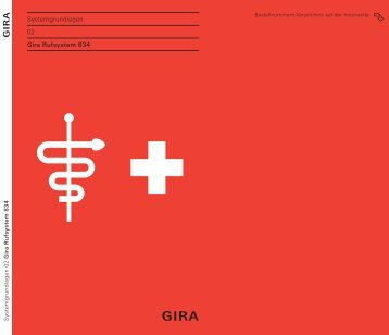 Gira Rufsystem 834 - Systemgrundlagen