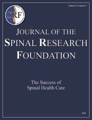 Click to Read the Fall 2010 Journal - Spinal Research Foundation