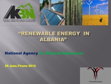 """Renewable Energy in Albania"
