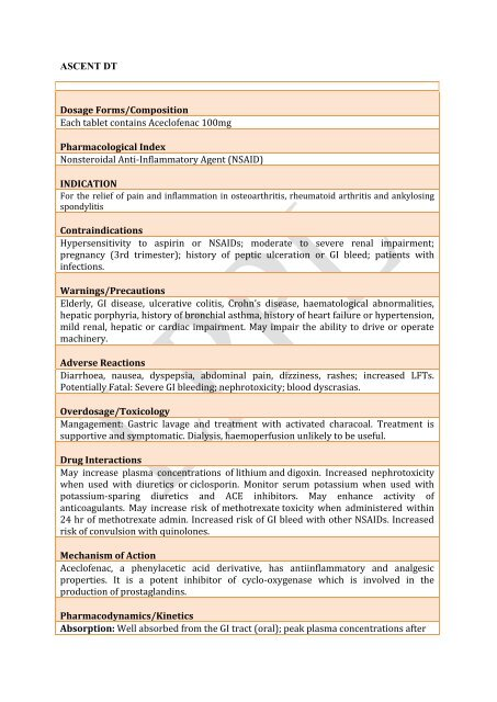 ascent dt tab - Lomus Pharmaceuticals Pvt  Ltd