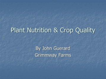 J. Guerard - Fluid Fertilizer Foundation
