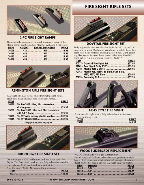 FIRE SIGHT PEEP SETS FIRE