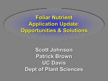 S. Johnson - Fluid Fertilizer Foundation