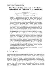 Skew Generalized Secant Hyperbolic Distributions: Unconditional ...