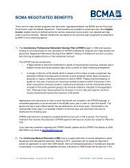 PDF summary page - British Columbia Medical Association