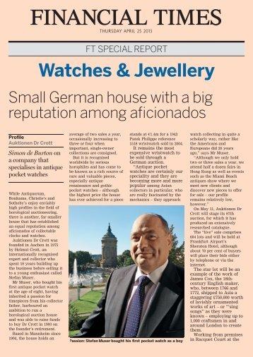 Watches & Jewellery - Auktionen Dr. Crott