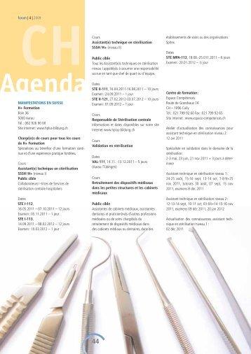 Agenda A - Société Suisse de Stérilisation Hospitalière