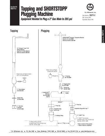 SHORTSTOPP® 275 2 Inch Data Sheet - T.D. Williamson, Inc.