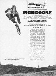 78 mongoose BMXA test - Vintage Mongoose