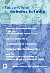 Police reform debates in India - Commonwealth Human Rights ...