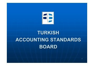 Implementation of the IAS / IFRS in Turkey