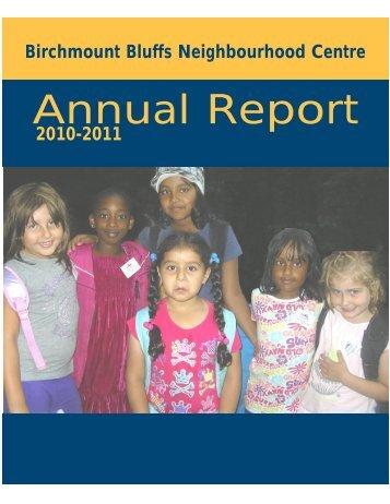 annual report 2010-2011.qxd - Birchmount Bluffs Neighbourhood ...