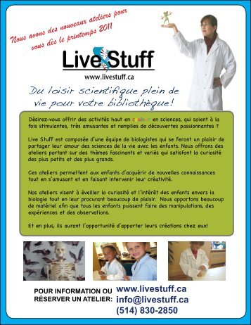 voir PDF - Live Stuff