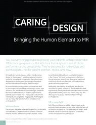 Bringing the Human Element to MR - GE Healthcare