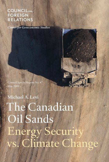 The Canadian Oil Sands - Energy Security vs. Climate Change (pdf