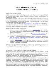 Descriptif du projet - Le Conservatoire de l'estuaire de la Gironde