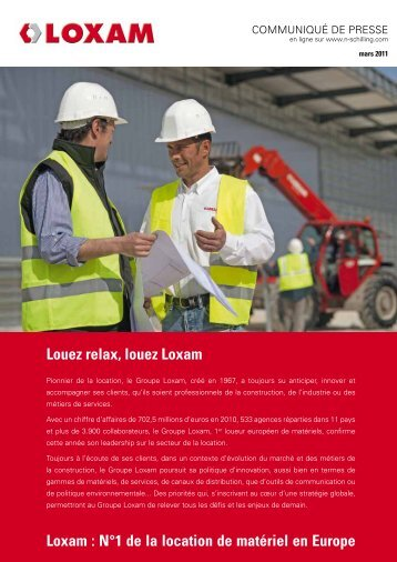 Loxam - Agence Nicole Schilling Communication