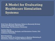 A Model for Evaluating Healthcare Simulation Systems