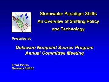 A Paradigm Shift for Stormwater