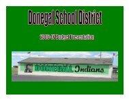 Donegal School District 2006-07 Budget Presentation