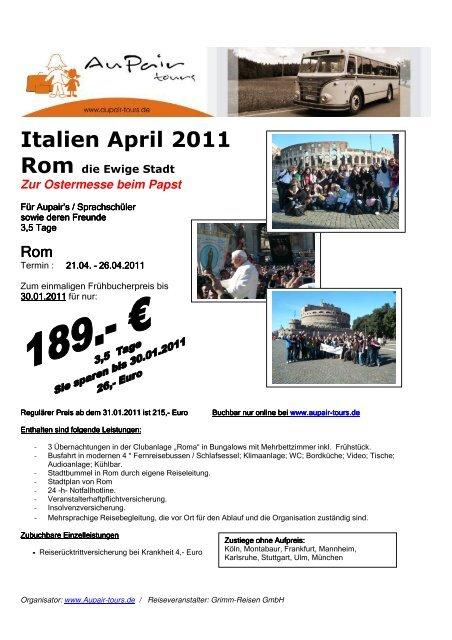 Rom April 2011 pdf - Au-pair Vermittlung