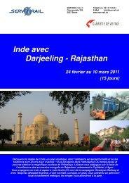 Inde avec Darjeeling - Rajasthan - SERVRail