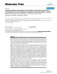 Antinociception induced by chronic glucocorticoid treatment is ...