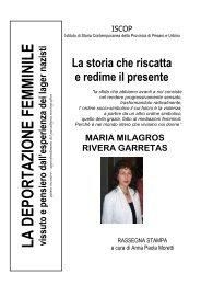 Scarica la rassegna stampa - Biblioteca Archivio Vittorio Bobbato