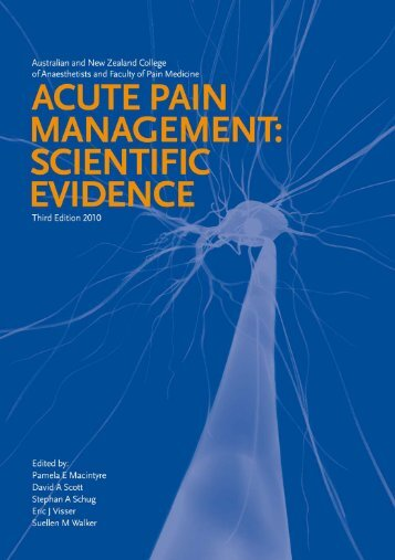 Acute Pain - final version - Faculty of pain medicine - Australian and ...