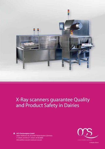 X-Ray scanners guarantee Quality and Product Safety ... - OCS Russia