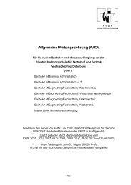 Allgemeine Prüfungsordnung (APO) - Private Fachhochschule für ...