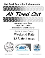 All Tired Out - Chicagoland Sports Car Club