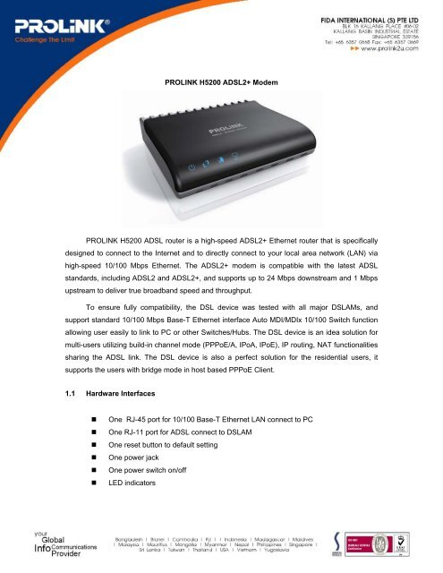 PROLINK ADSL MODEM TREIBER WINDOWS 7