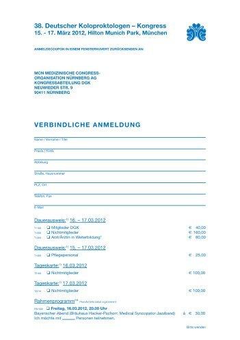 38. Deutscher Koloproktologen – Kongress - Proktologische Praxis ...