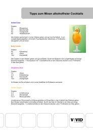 Tipps zum Mixen alkoholfreier Cocktails - Vivid