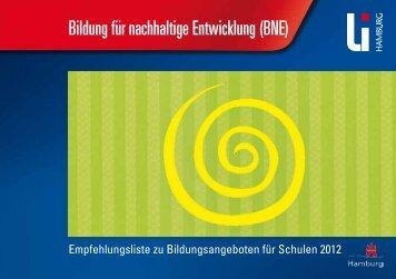 Bildung für nachhaltige Entwicklung - Globales Lernen in Hamburg