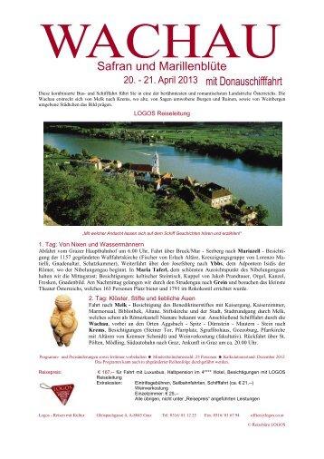 Reiseinformation Wachau mit Donauschifffahrt - Logos Reisen