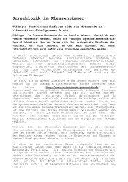 Sprachlogik im Klassenzimmer - Universität Tübingen