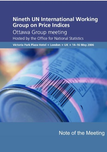 Summary of the Meeting - The Ottawa Group on price indices