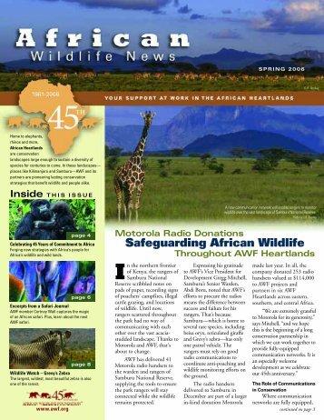 Safeguarding African Wildlife - African Wildlife Foundation
