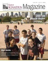 2007-08 Annual Report - St. Ignatius College Prep