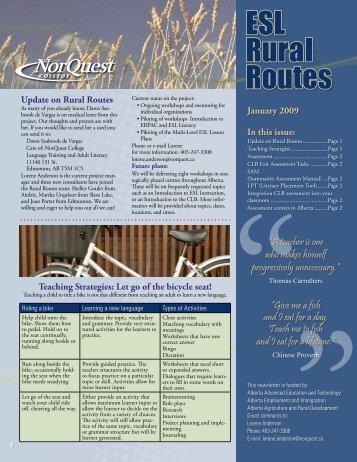 January 2009 (249K pdf) - NorQuest College